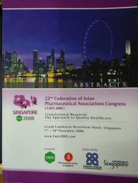 Image of 22 FEDERATION OF ASIAN PHARMACEUTICAL ASSOCIATIONS CONGRESS ( FAPA 2008 )