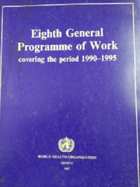 Image of EIGHTH GENERAL PROGRAMME OF WORK COVERING THE PERIODE 1990-1995